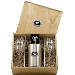 College Logo Wine Box Gift Set