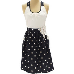Dotty Bow Vintage-Inspired Apron
