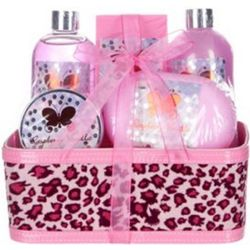 Raspberry Vanilla 5-Piece Bath and Body Animal Print Gift Box