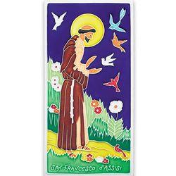 Italian Saint Francis Plaque