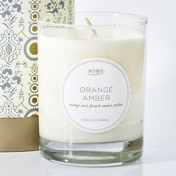 Amber Orange Jar Candle