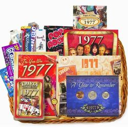 40th Birthday or 40th Anniversary Gift Basket with Coins for 1976