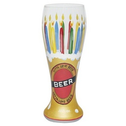 Birthday Beer Pilsner Glass