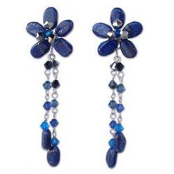 'Blue Bouquet' Lapis Lazuli Floral Earrings