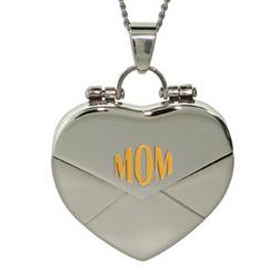 Mom Secret Message Heart Locket