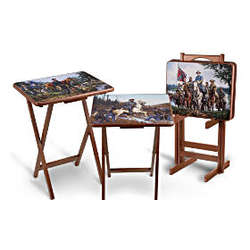 Legends of The Civil War Tray Table Set