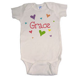 She's All Heart Personalized Infant Creeper