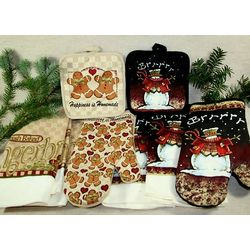 4 Piece Kitchen Holiday Design Set