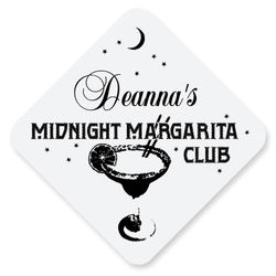 Personalized Midnight Margarita Hardboard Coasters