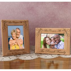 Personalized Love Conquers All Wooden Picture Frame