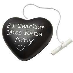 Personalized Chalkboard Heart Paperweight