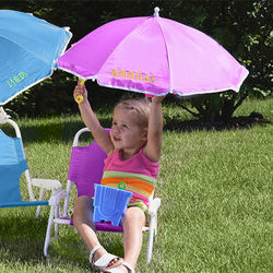 Personalized Child Beach Chair and Umbrella Set in Pink