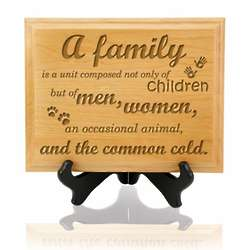 What Makes a Family Plaque with Stand