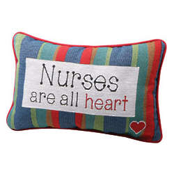 Nurses Are All Heart Accent Pillow