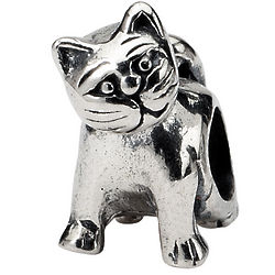 Sterling Silver Cat Charm