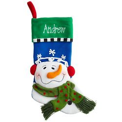 Personalized Snow Family 3D Christmas Stocking