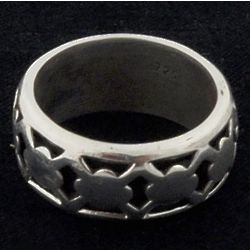 Sterling Crossover Cut Out Ring