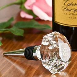 Personalized Crystal Diamond Wine Stopper