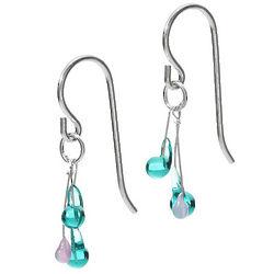 Melange Lampwork Glass Bead Earrings