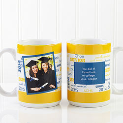 School Spirit Personalized Photo Mug