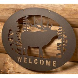 Steel Elk Welcome Sign