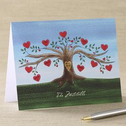Personalized Family Tree Custom Note Cards