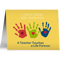 Touches a Life Teacher Note Cards and Envelopes
