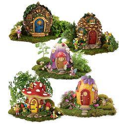 Fairy House Village Figurines