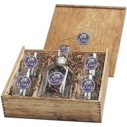 College Logo Decanter Gift Set