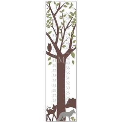 Forest Critters Personalized Canvas Growth Chart