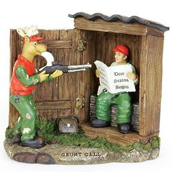 Outhouse Hunter Figurine