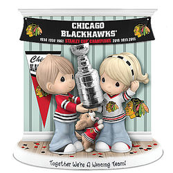 We're a Winning Team Chicago Blackhawks Champions Figurine
