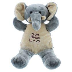 Personalized God Bless Elephant Pal Stuffed Animal