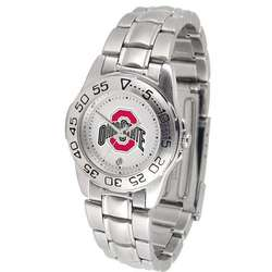 Ohio State Buckeyes Ladies Steel Band Sports Watch