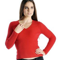 Women's Cashmere Skinny Rib Sweater