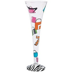 Shopaholic Too Champagne Flute