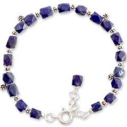 Blossoming Ecstasy Lapis Lazuli Flower Bracelet