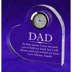 As Time Passes Father's Day Keepsake