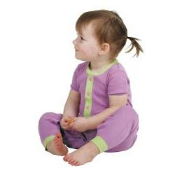 Purple Dropseat Infant Pajamas