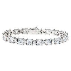 32 3/8 Carat CZ Sterling Silver Tennis Bracelet