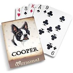 Personalized Dog Portrait Playing Cards