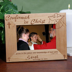 "4"" x 6"" Confirmed in Christ Wood Picture Frame"
