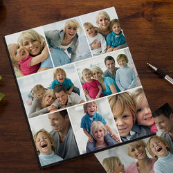 Personalized Eight Photo Collage Cover Photo Album