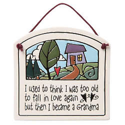 Then I Became a Grandma Ceramic Plaque