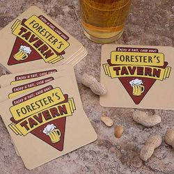 Cheers Tavern Personalized Pub Coasters