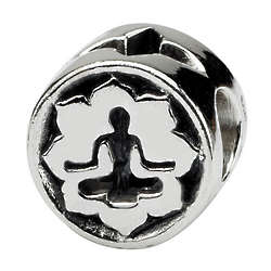 Sterling Silver Yoga Lotus Charm