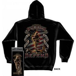 American Soldier This We'll Defend Hooded Sweatshirt