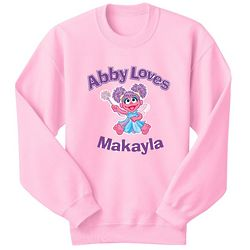 Personalized Abby Loves Sweatshirt