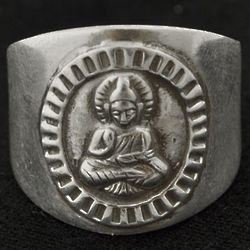Sterling Silver Zen Crest Ring