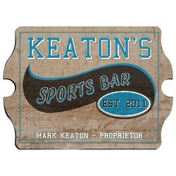 Vintage Personalized Sports Bar And Pub Sign